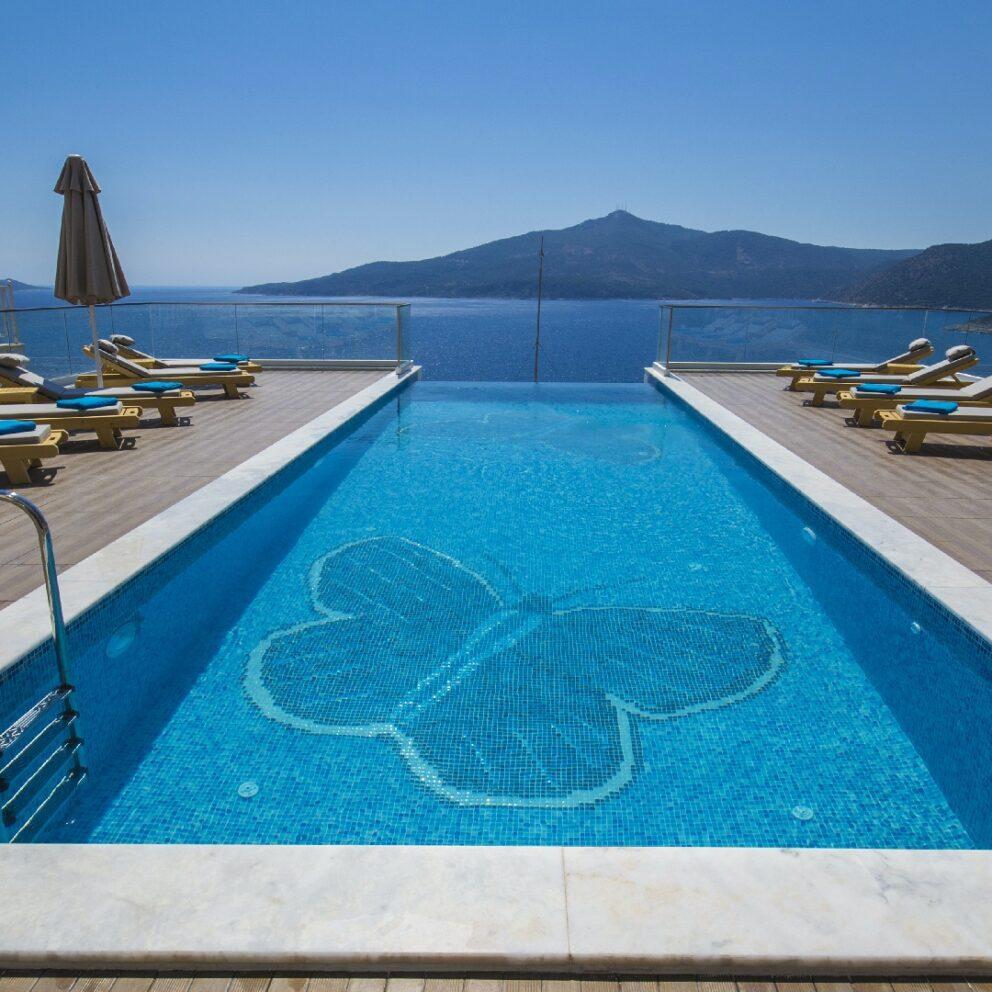 Villa Mavi Kelebek large pool